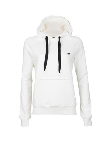Bad Bear Kadın Chaste Hoodıe Off Sweatshirt 20.04.12.005-C04 Beyaz
